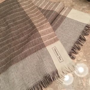 Christian Dior Plaid Wool Scarf